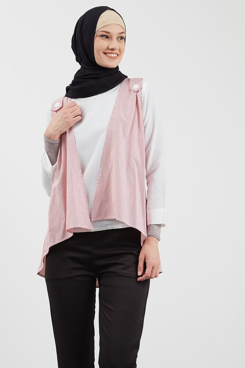 Stripe Blouse Pink