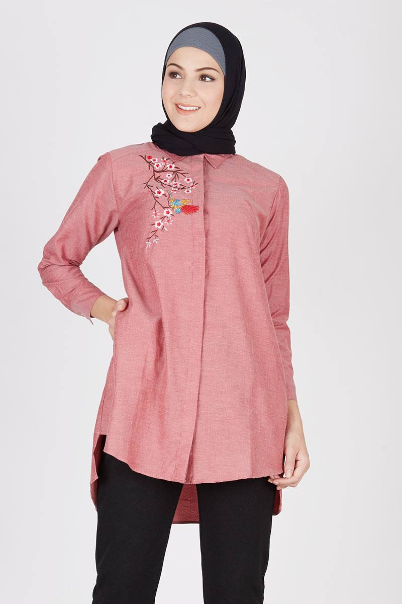 Tunic Embroidery Mika Red
