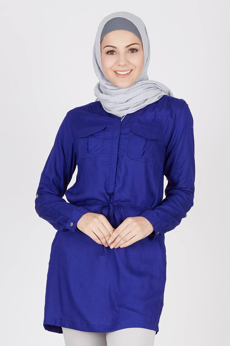 Tunic Rayon Cotton Anna Blue