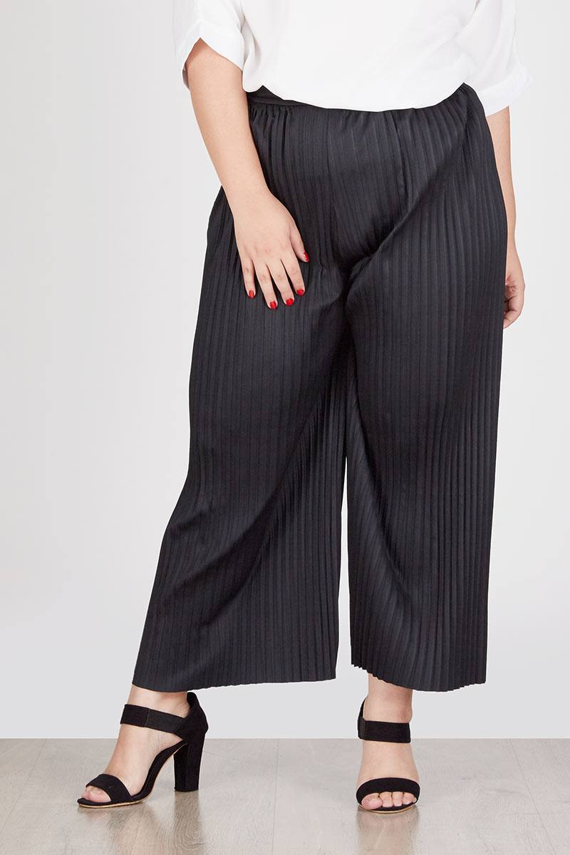 Delinks Nabila Plisket Long Pants Bcpj18114 Black Daftar Harga High Quality Clothing Bcpj18100 Berville Cullote