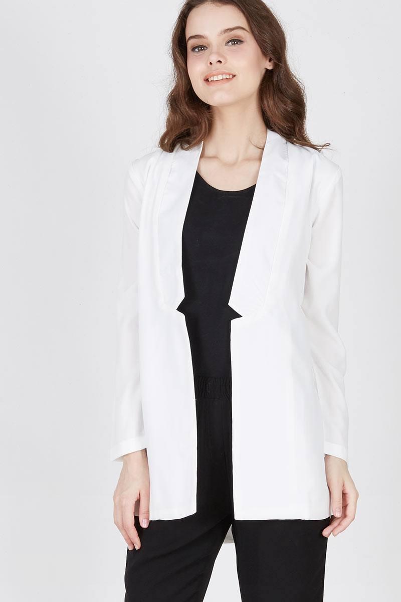 Harga Milena Sleek Blazer White Produk Ukm Bumn Jaket Catenzo Fleece