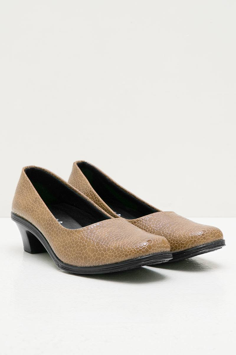 Womens Leather 43199 Formal Shoes Camel