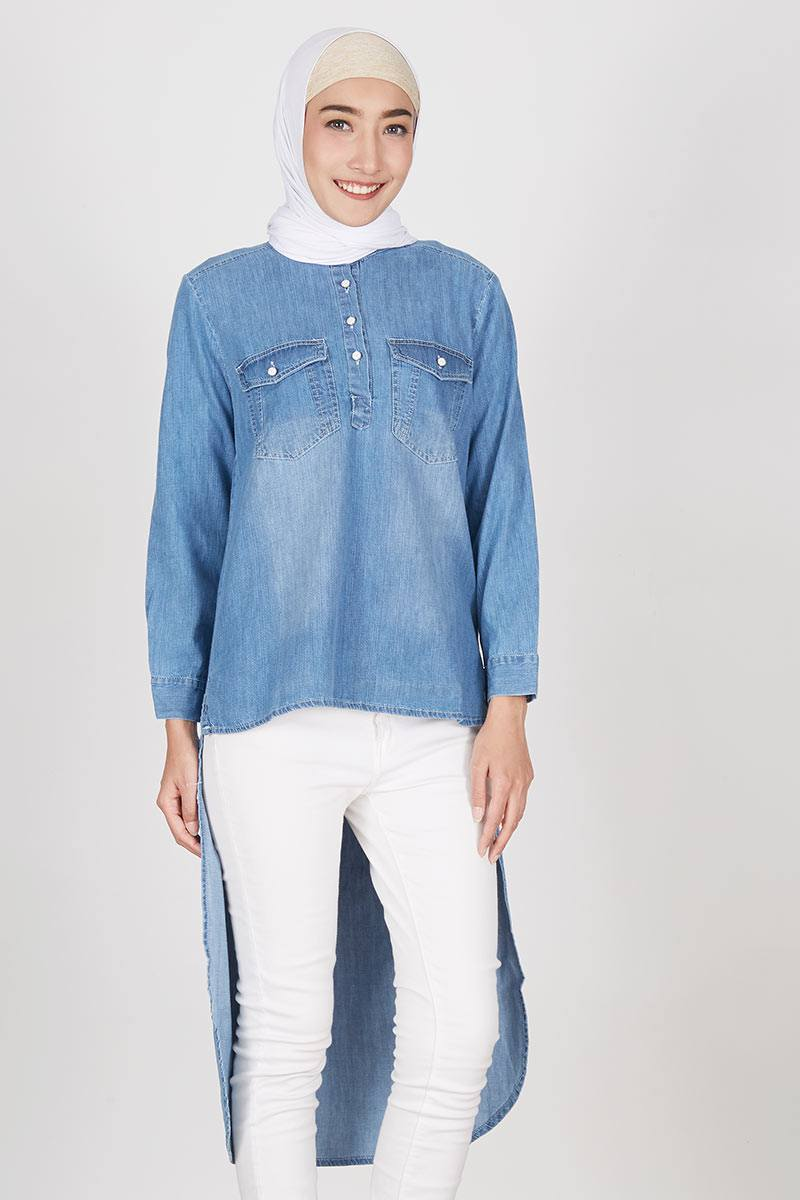 Top Denim Jessy Light Blue