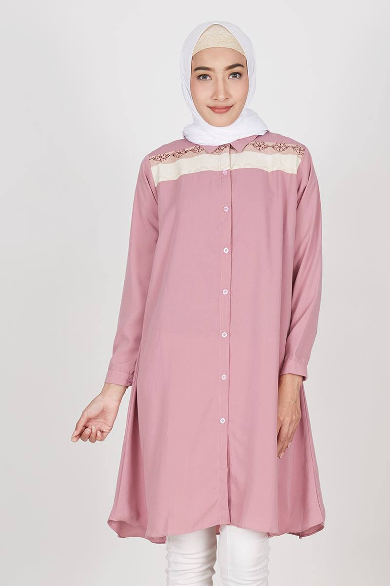 Tunik Fanesa Pink Dusty