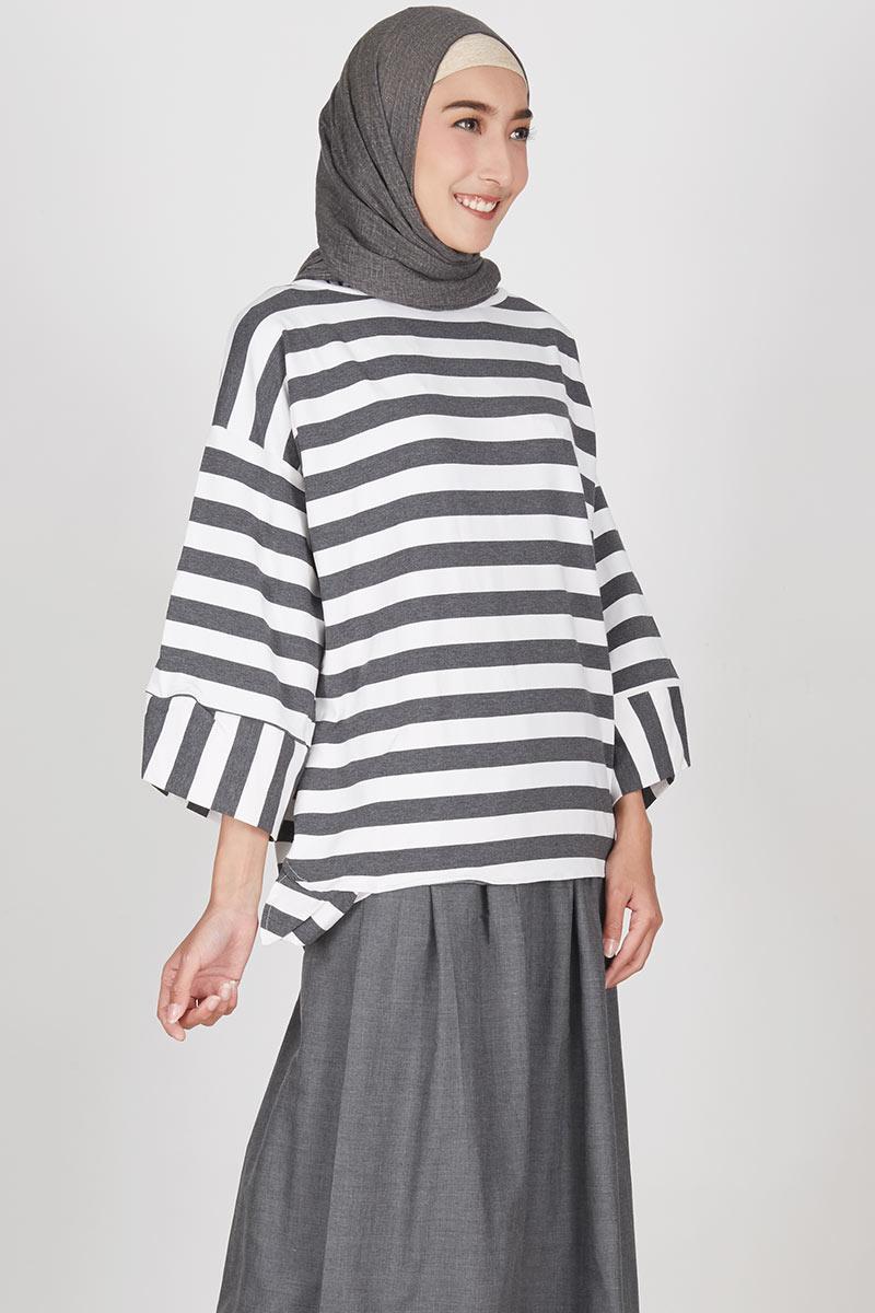 Ocha Top Stripe Grey
