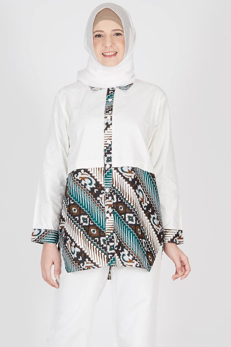 Anabelle Batik Blouse White