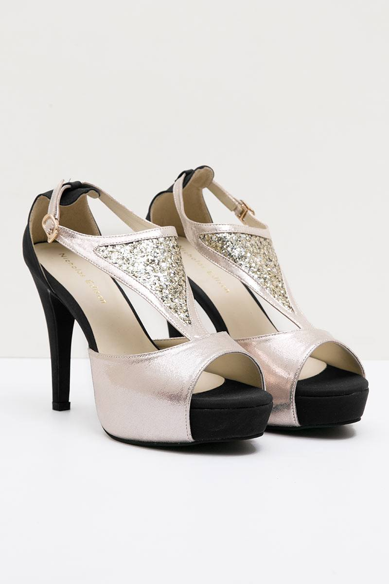 HEEL KAREN LIGHT GOLD