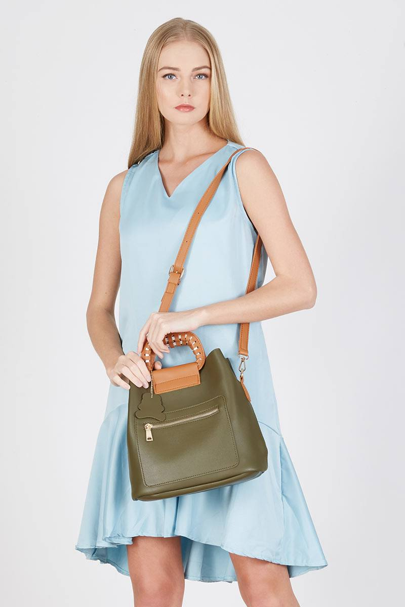 191440 katie handbags green green kymgr