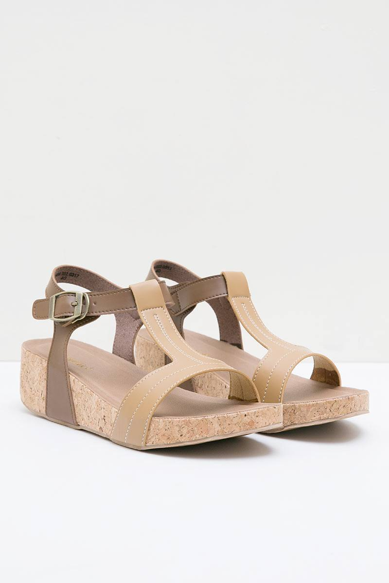 LEOVESA WEDGES BROWN MOCCA