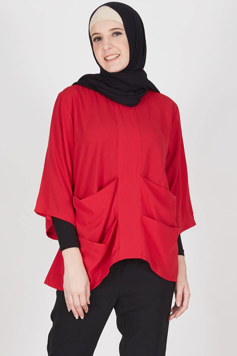 Red Yuna Top