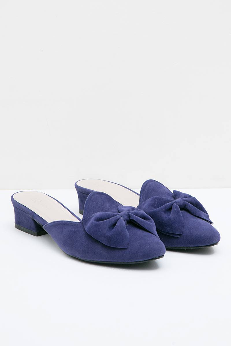 Prada Mules Heels in Navy