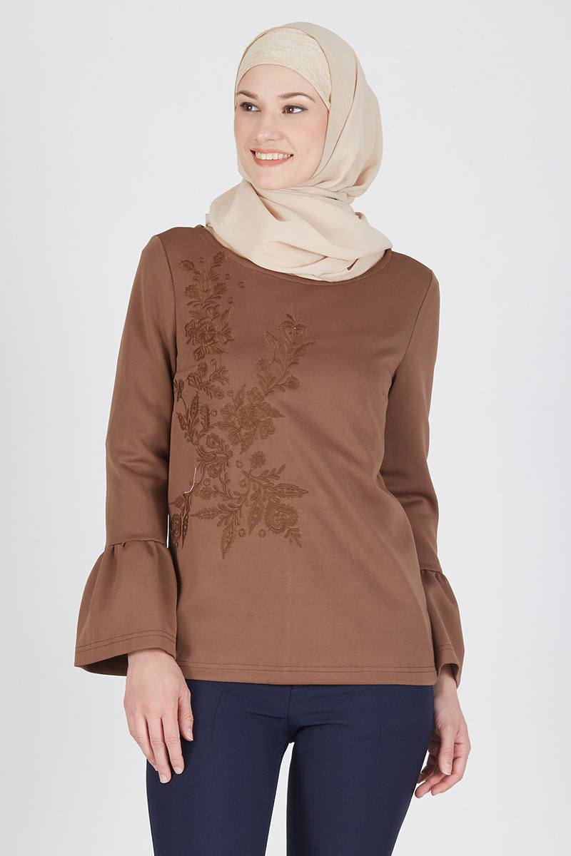 Jace Top Dark Brown