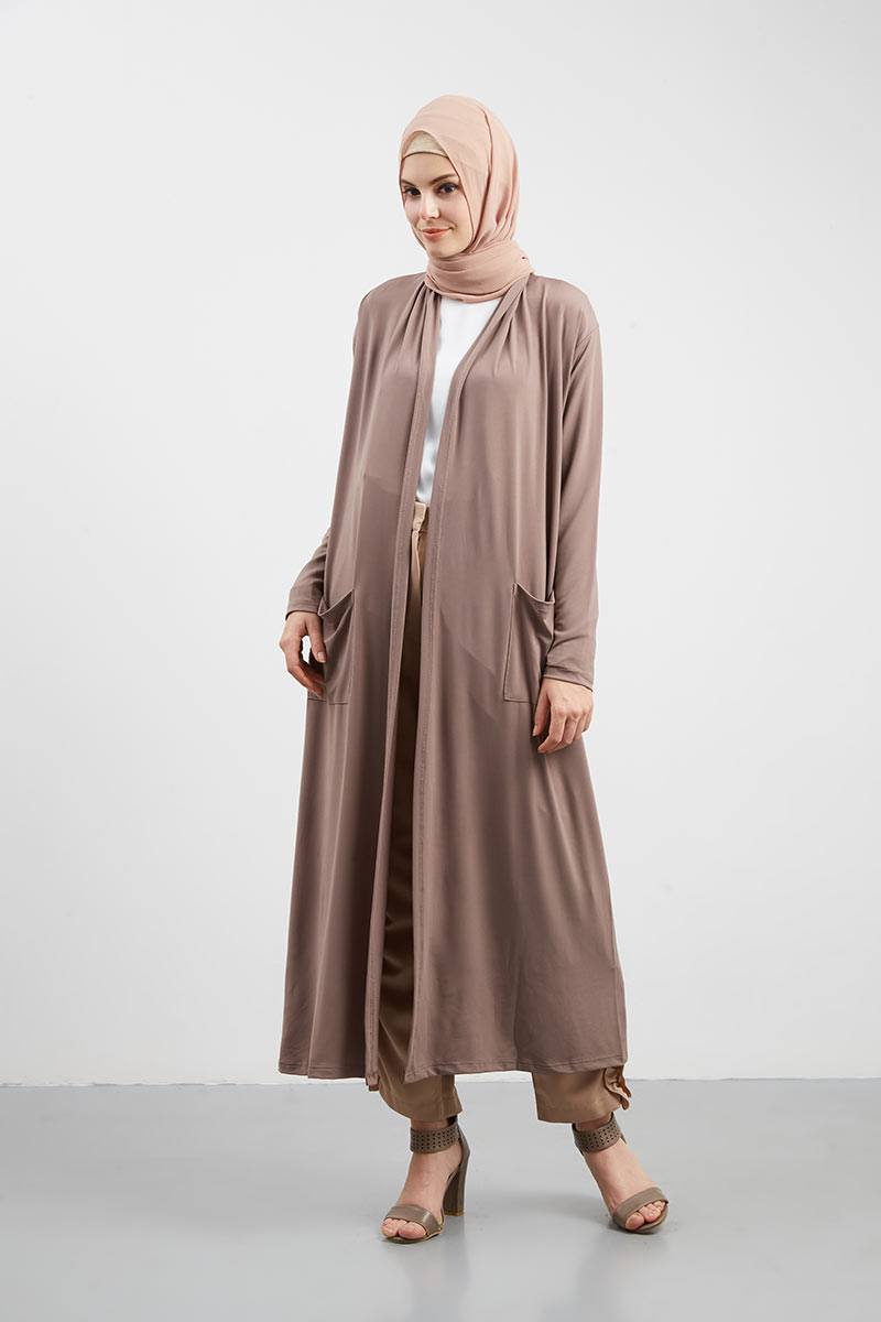 Long Cardigan Mocca