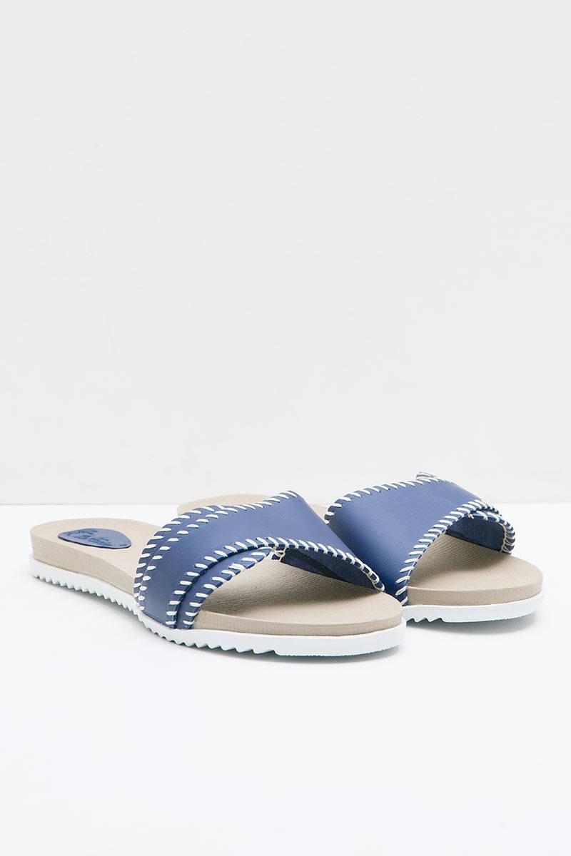 DrKevin Leather 27357 Loafers Sandals Blue