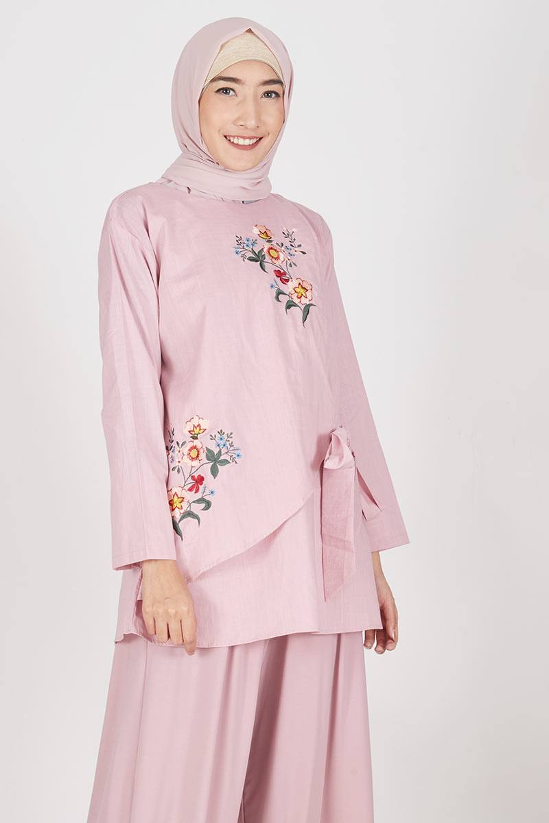 Aslimah Blouse Dusty Pink