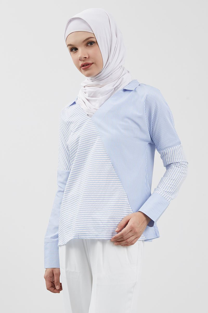 Perrin Shirt Stripe Blue