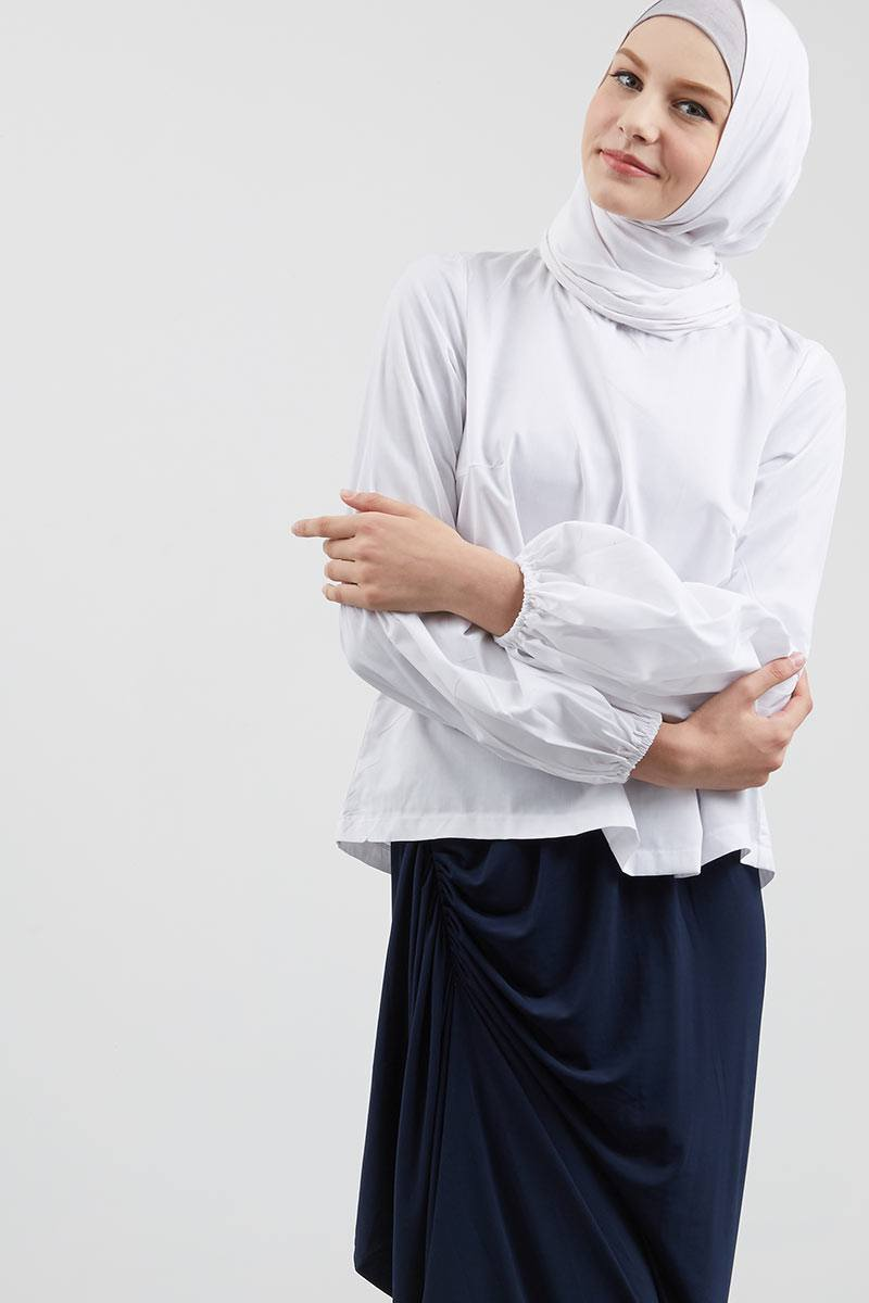 Ryne Puff Sleeve Top White