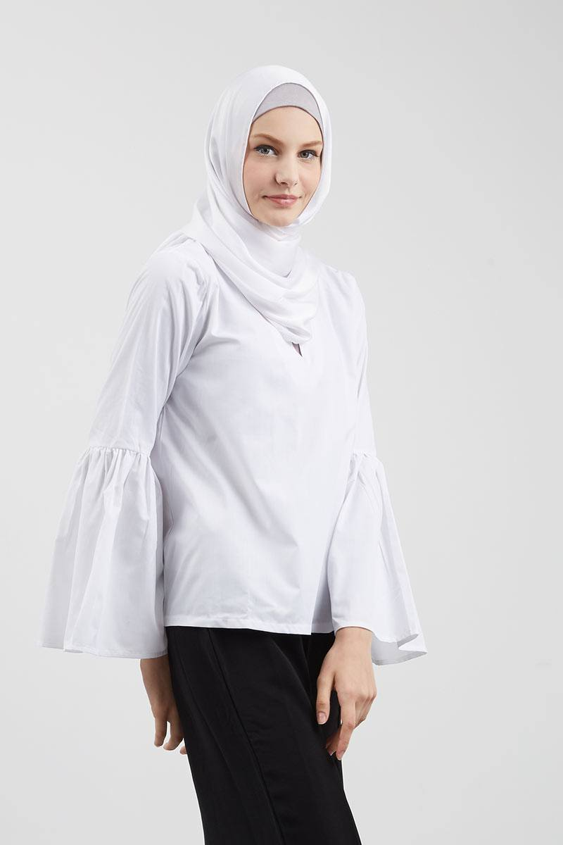 Rylie Puff Sleeve Top White