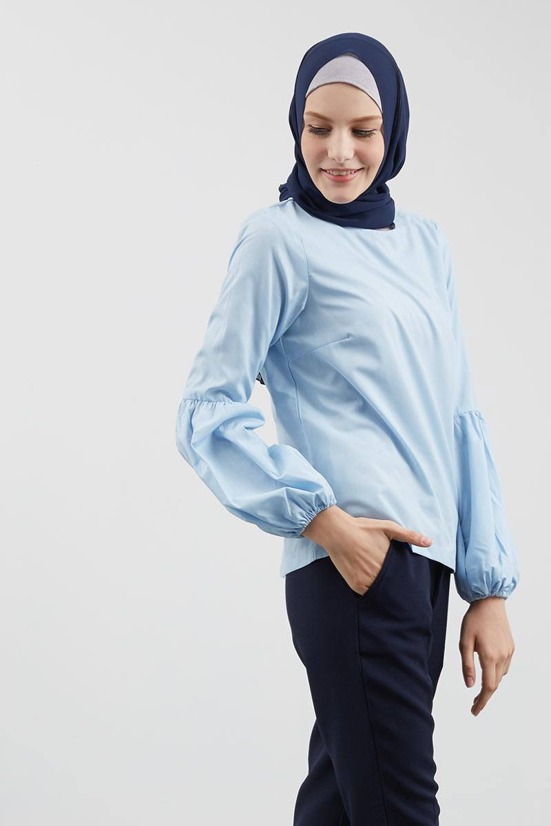 Ryne Puff Sleeve Top Blue