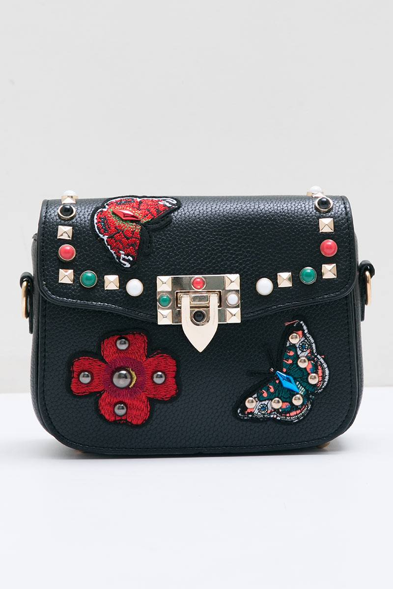 233143 buffy patches rockstud sling bag black 9392 171 black zwc2q