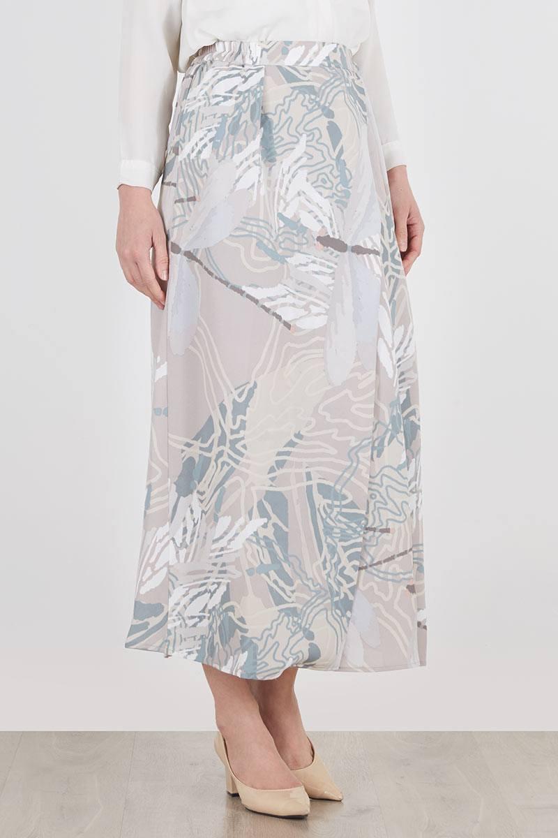 Maha Skirt Teal-OffWhite