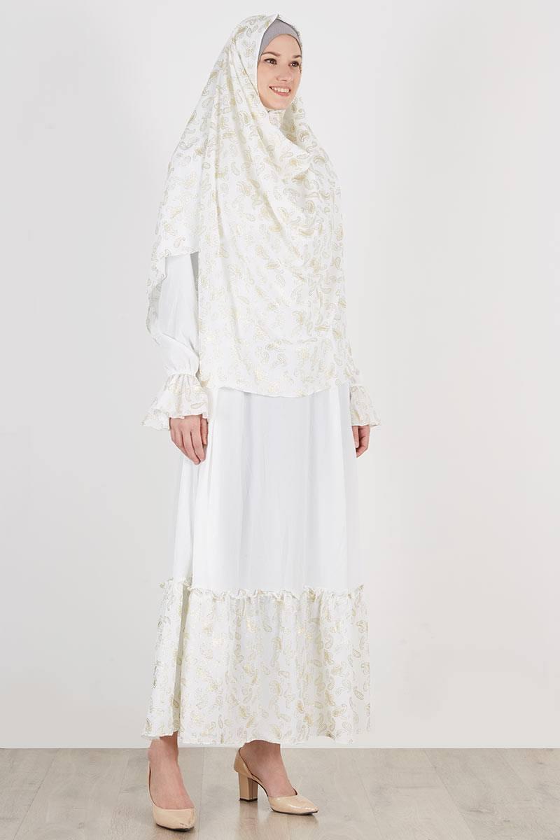 Sell Set Gamis Jilbab Athifa Free Niqab Putih Dresses