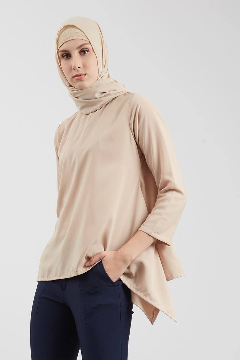 Clarice Top Blouse - Creme