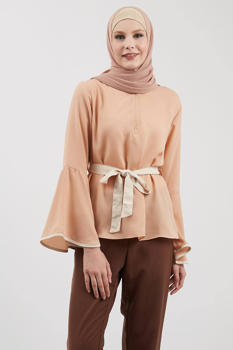 Celline Top Brown