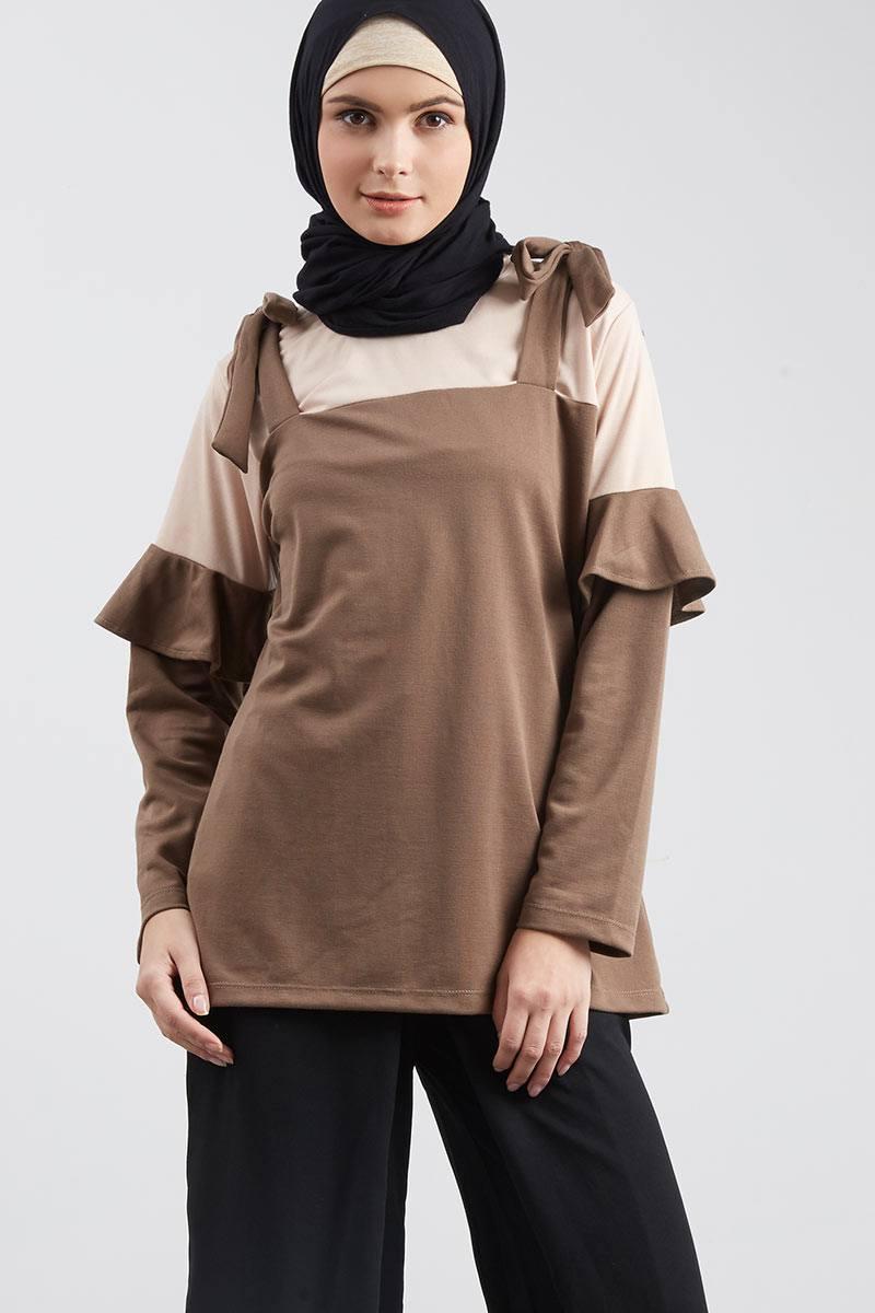 Wafiyah Talia Top Brown
