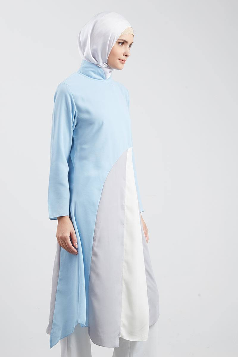 Syaheera Patchwork Tunik Blue