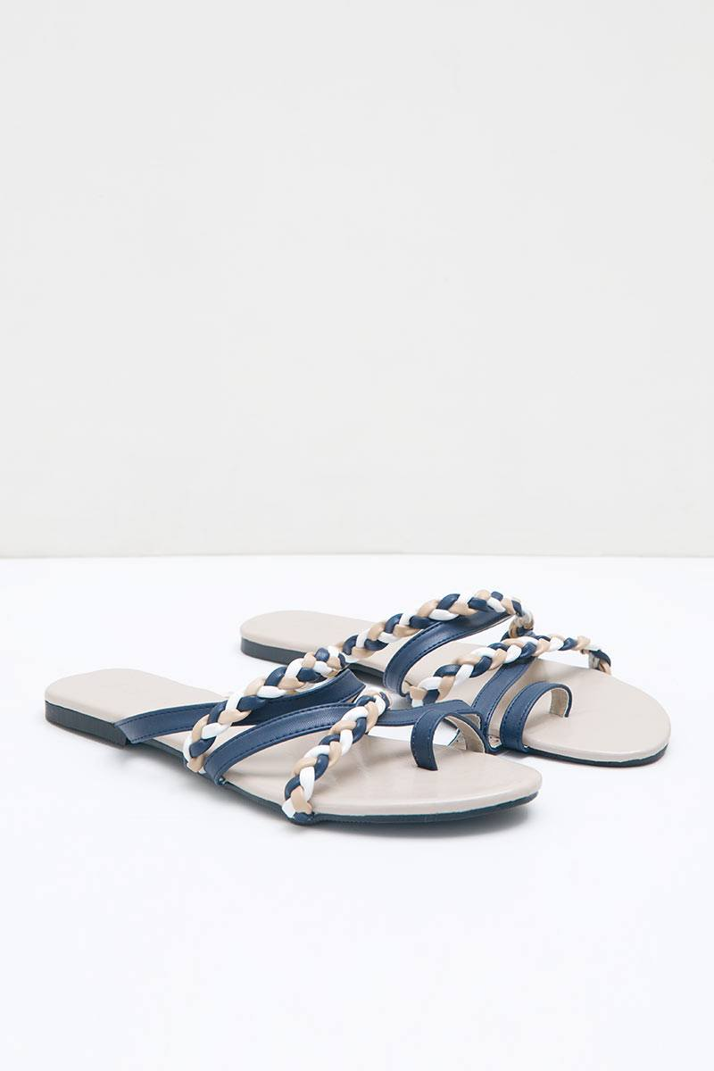 Moonstone Sandals in Navy