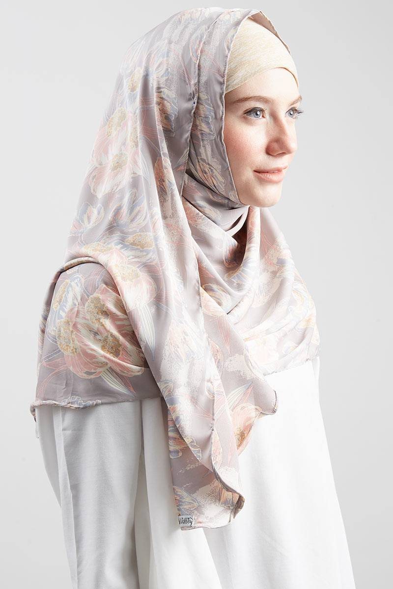 Julia Semi Instant Shawl Soft Grey