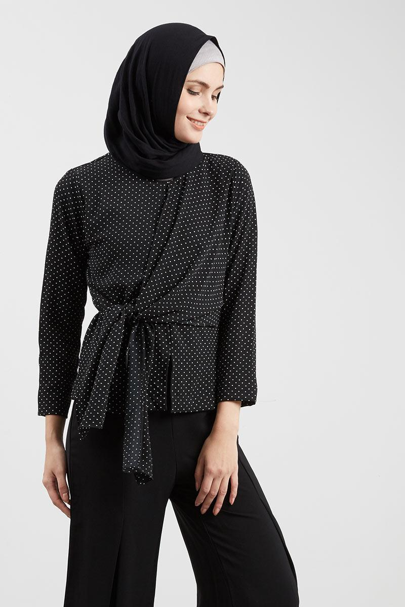 Mini Dottie Blouse Black