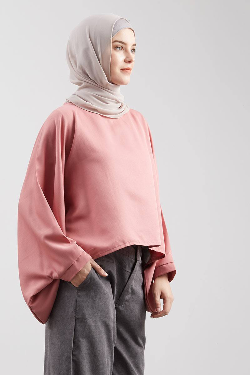 Blouse Kelelawar Fany Dark Peach