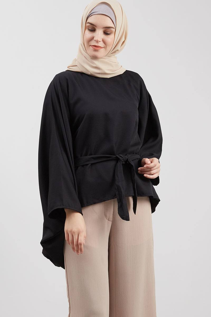 Blouse Butterfly Pita Black
