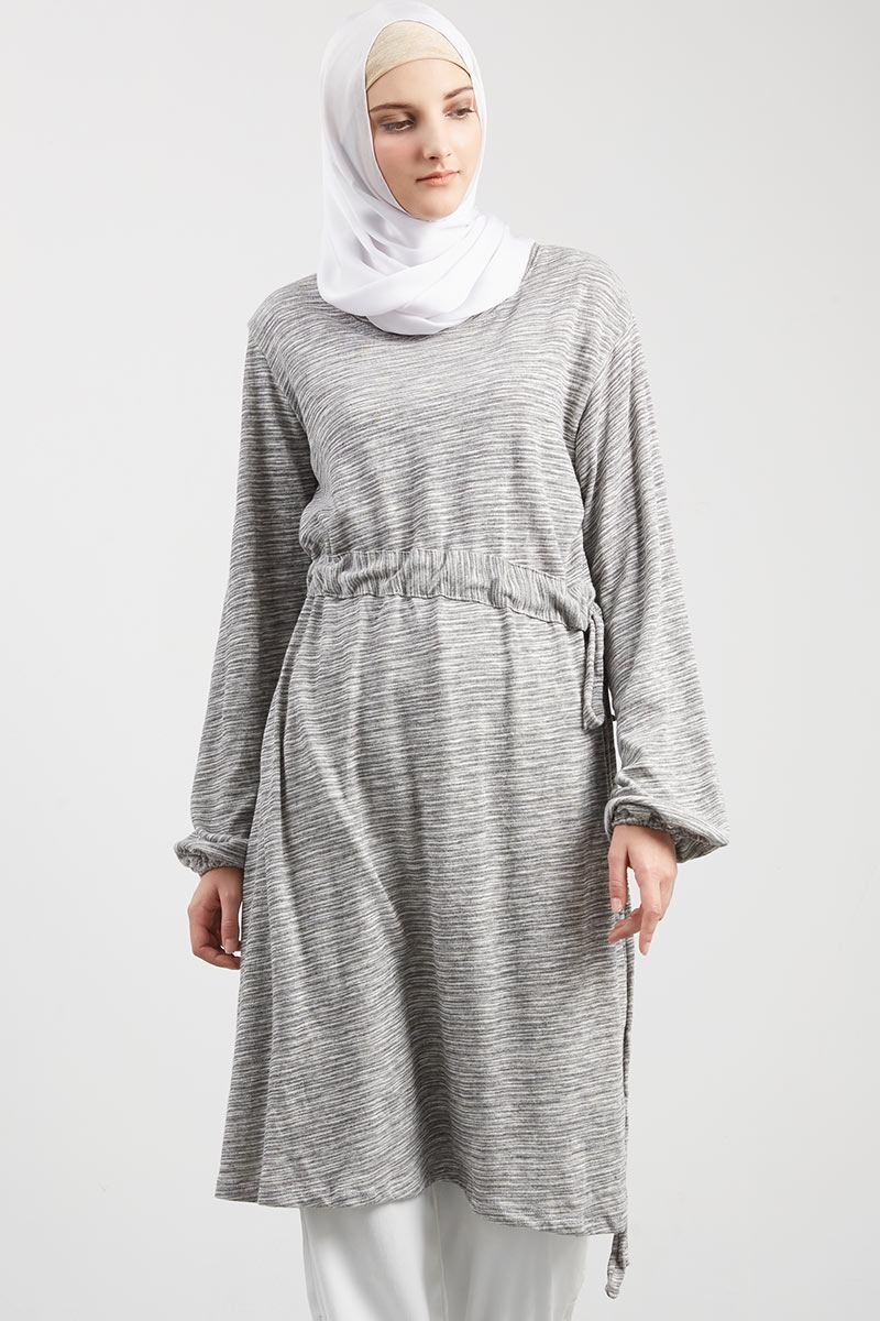 Faisha Rope Tunik Light Gray