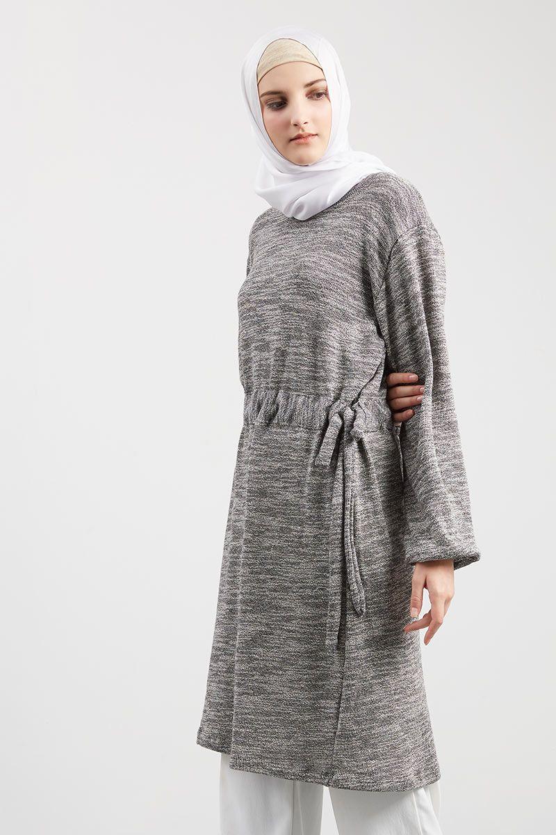 Faisha Rope Tunik Medium Gray
