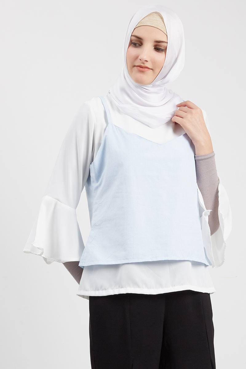 Cospia Double Blouse Light Blue