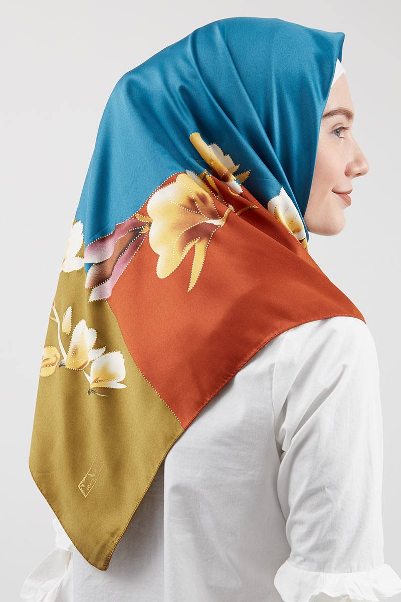 Harga Idrissi Square Hijab Blue Ni