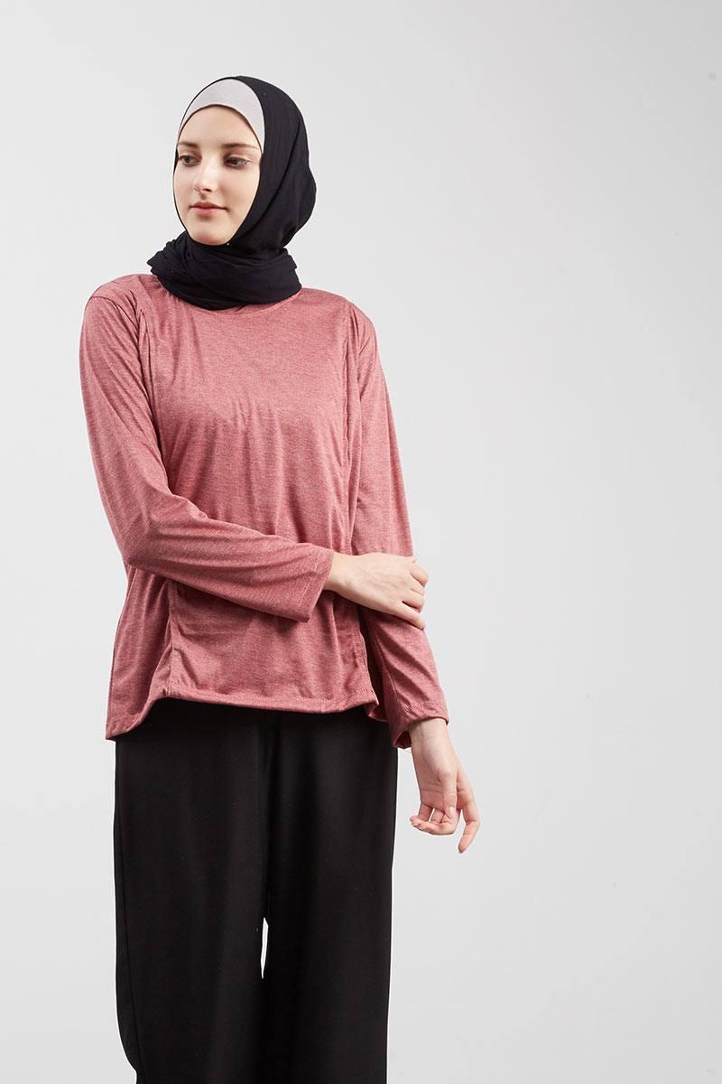 Exclusive For Hijabenka - Yumna Basic Nursingwear Maroon