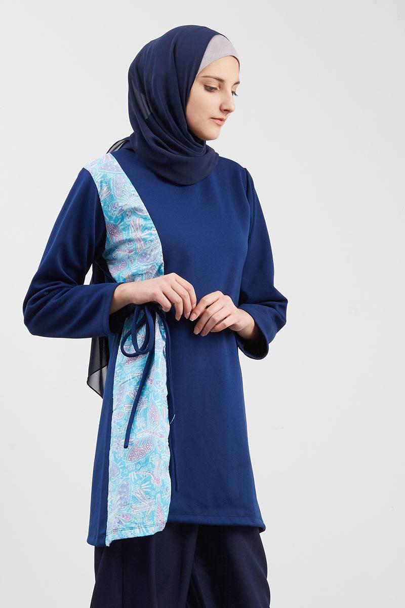 Exclusive For Hijabenka - Shazfa Rope Batik Navy Blue