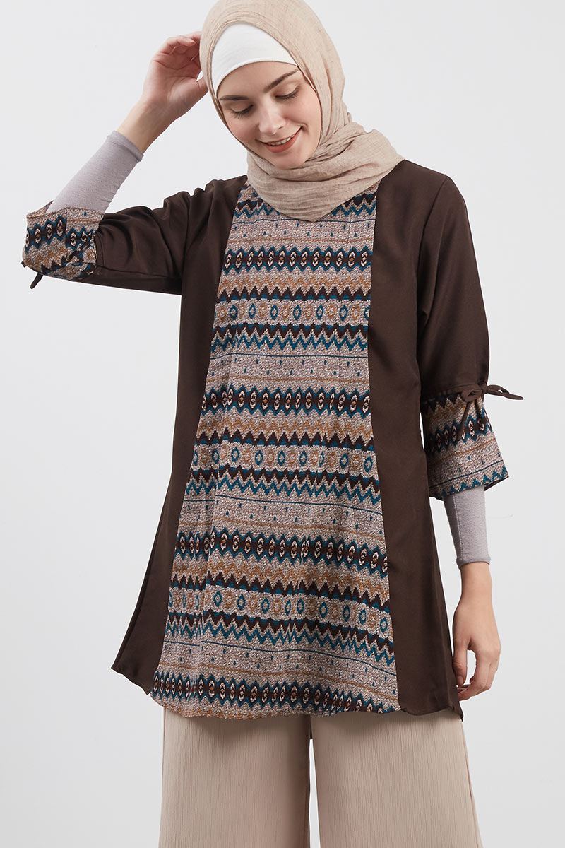 Ethnic Elite Tunic Brown