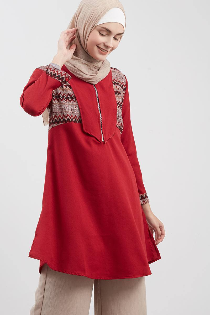 Royal Ethnic Tunic Red