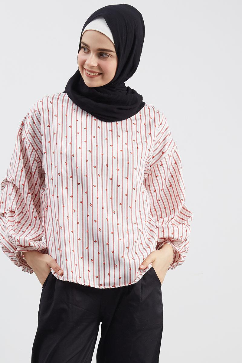 Nobeli Hand Blouse Red