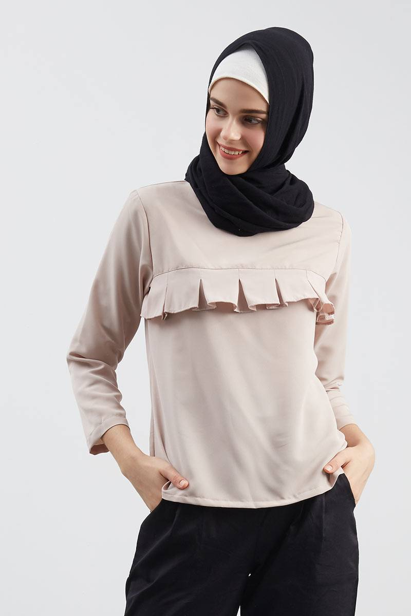 Sarine Rample Blouse Brown