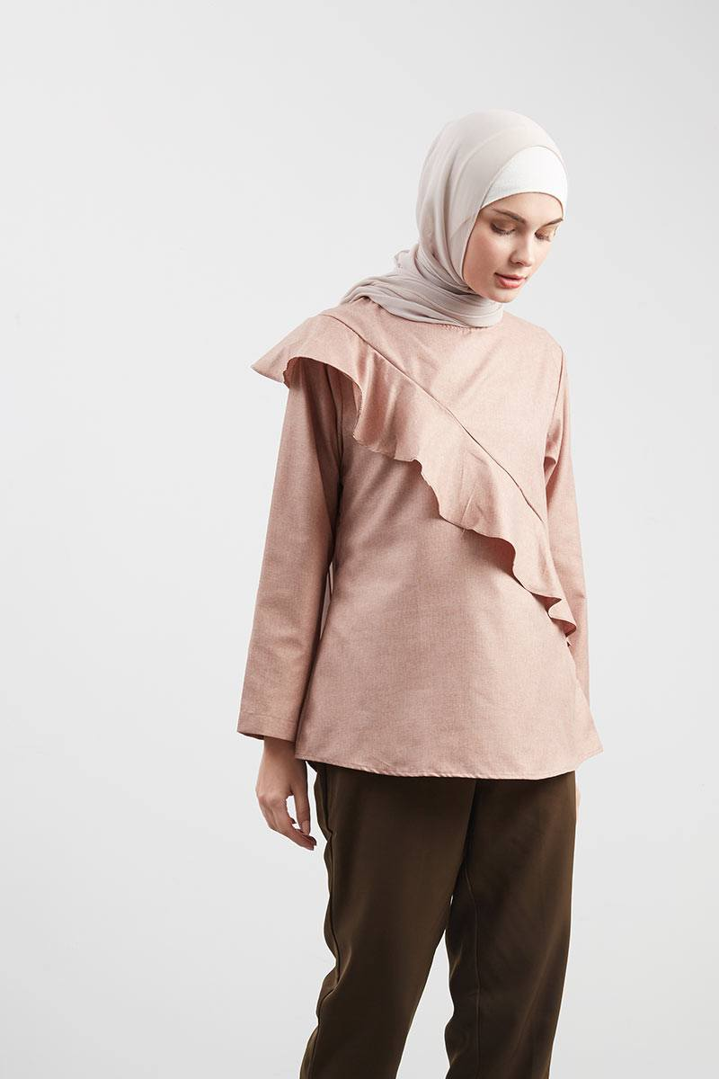Lenara Top Brown