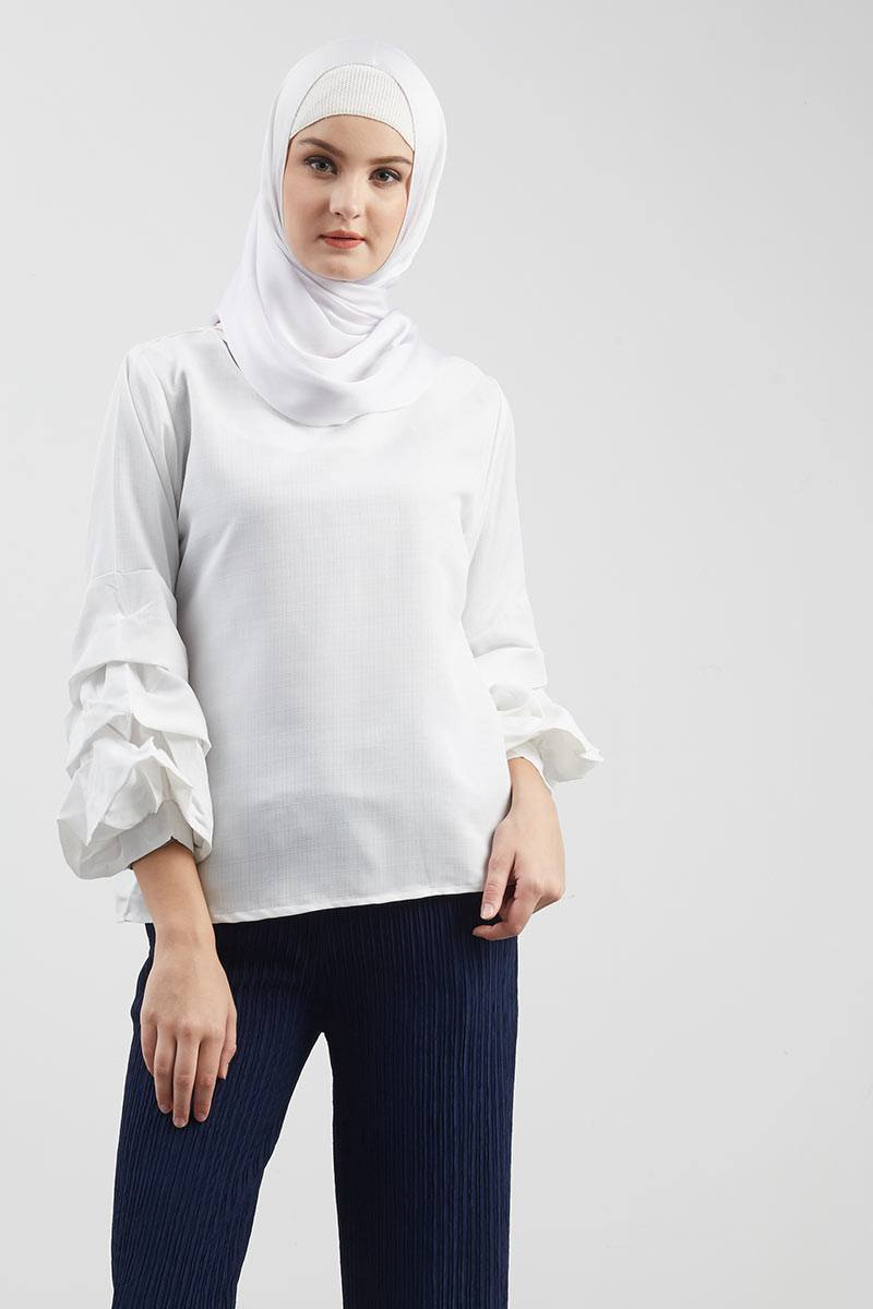 Bloom Hands Blouse White