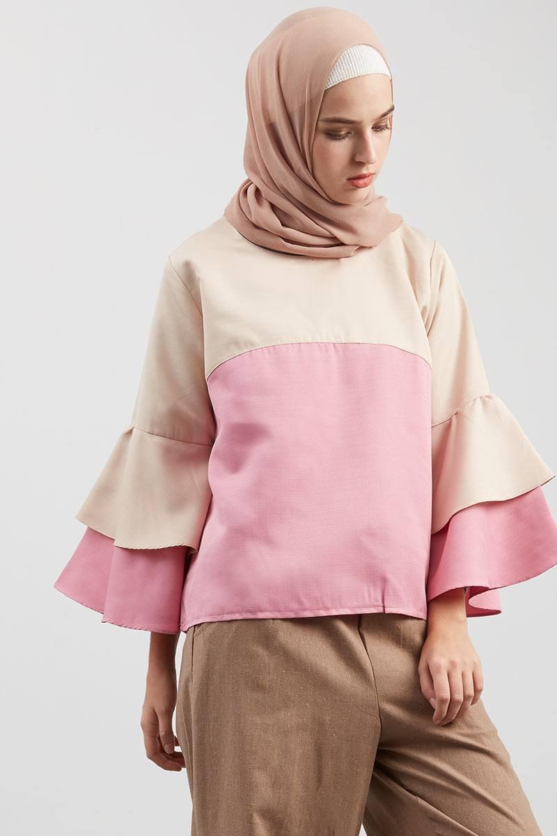 Harga Celana Kombinasi 12 Pink Hijabenka Freja Top Givency