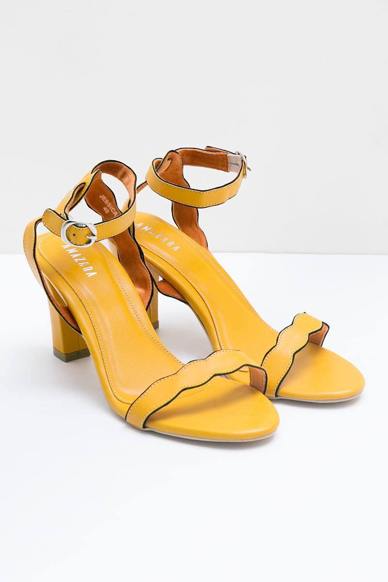 Mustard Jessica Heels